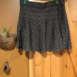 Sweater material skirt
